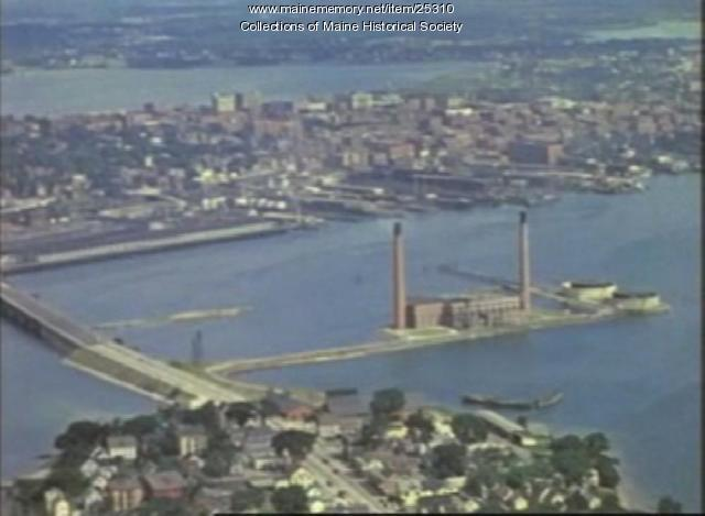 Film of Portland from the air, ca. 1940