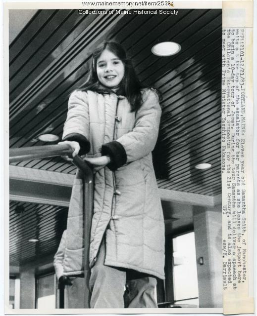 Samantha Smith at Jetport, Portland, 1983