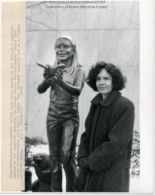 Jane Smith and Samantha Smith statue, Augusta, 1986
