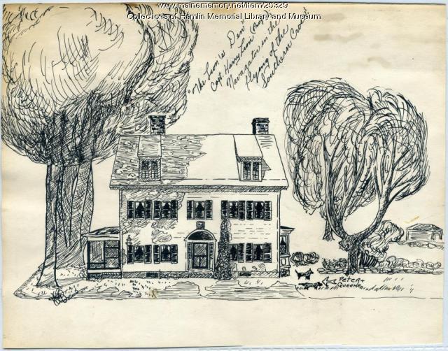 Henry Lyon house, Paris Hill, ca. 1955