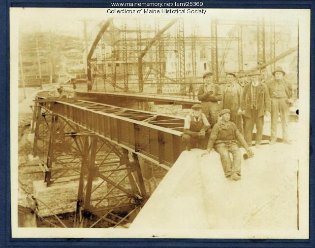 Street railway bridge, Rockport, 1921
