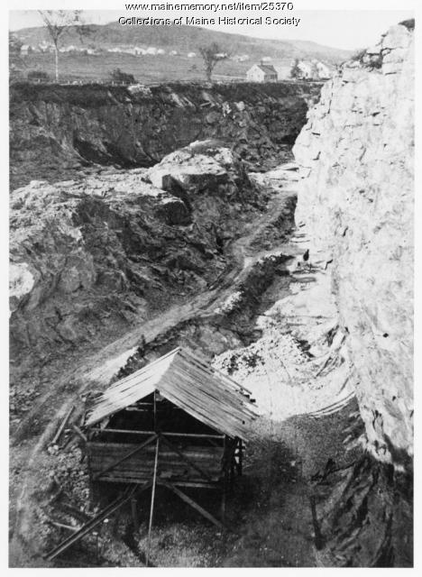 Limestone quarry, Thomaston, ca. 1880