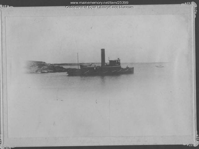 Tugboat, Saco River, 1890