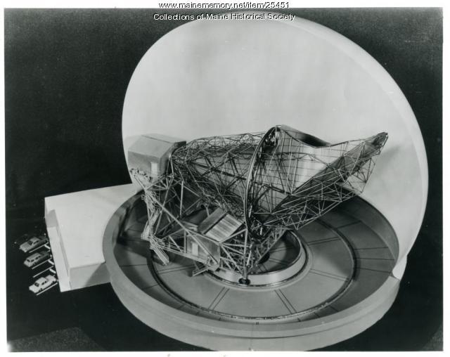 Telstar antenna model, Andover, 1962