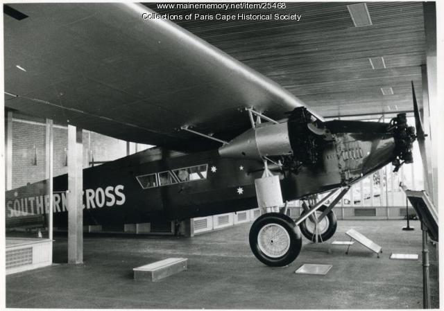Southern Cross in museum, Brisbane, Australia, 1958