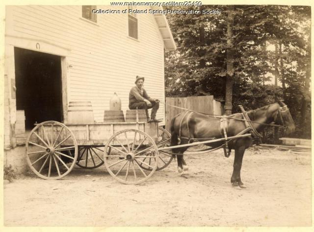 Delivery wagon, Poland Spring, 1887