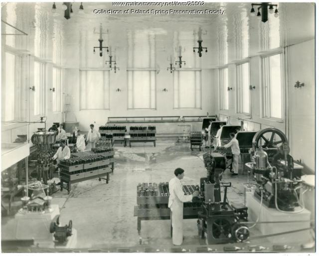 Bottling plant, Poland Spring, ca. 1920