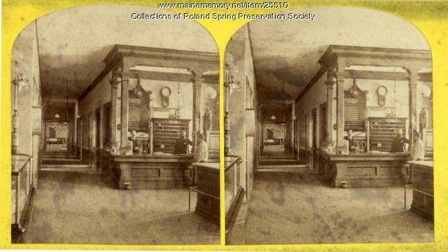 Poland Spring House office, ca. 1885