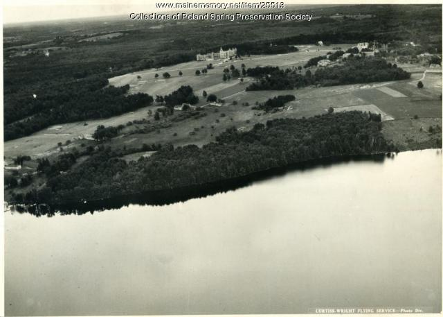 Aerial view, Poland Spring resort, ca. 1930