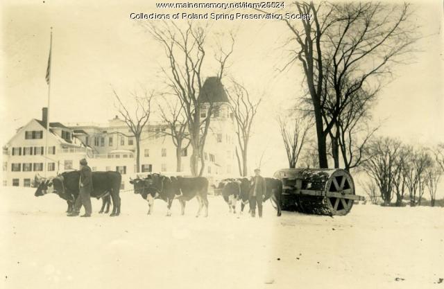 Snow roller, Poland Spring, ca. 1890