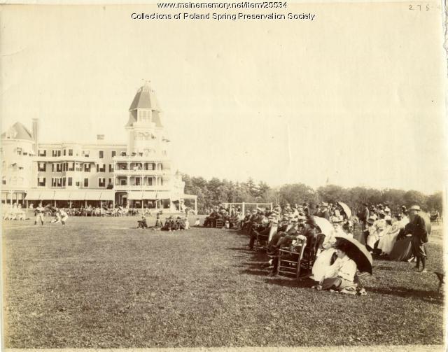 Baseball game, Poland Spring, ca. 1900