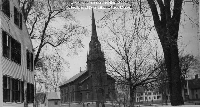 First Parish Congregational Church, Saco, ca. 1896