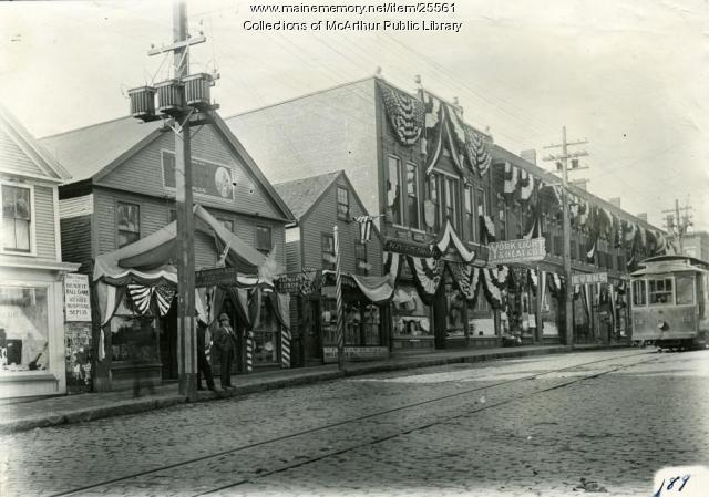 South side Main Street, Biddeford, 1909