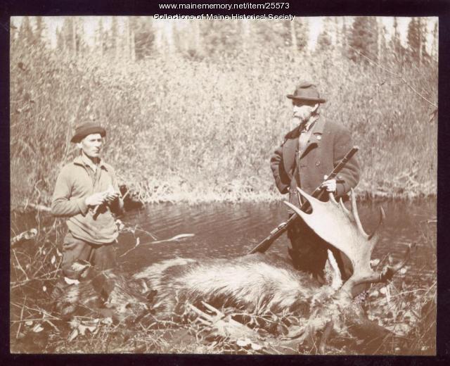 Moose hunt, 1895