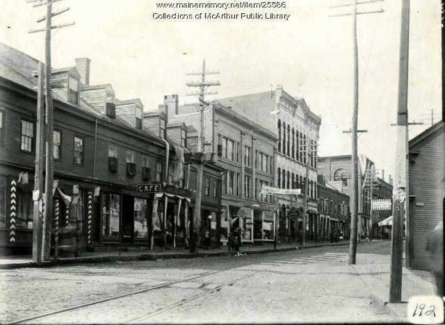 South Side of Main Street, Biddeford, 1909