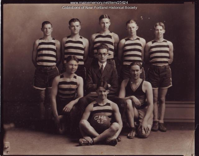 Central High basketball team, New Portland, 1925