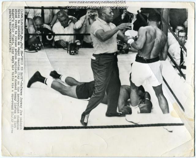 Cassius Clay, Sonny Liston, Lewiston, 1965