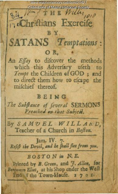 Samuel Willard sermon, Boston, 1701