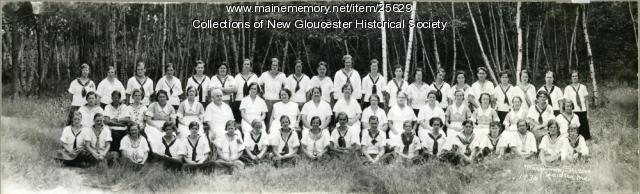 Kitchen staff, Pownal State School, 1936
