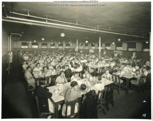 Dining hall, Pownal State School, ca. 1937