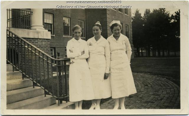 Nurses, Pownal State School, ca. 1937