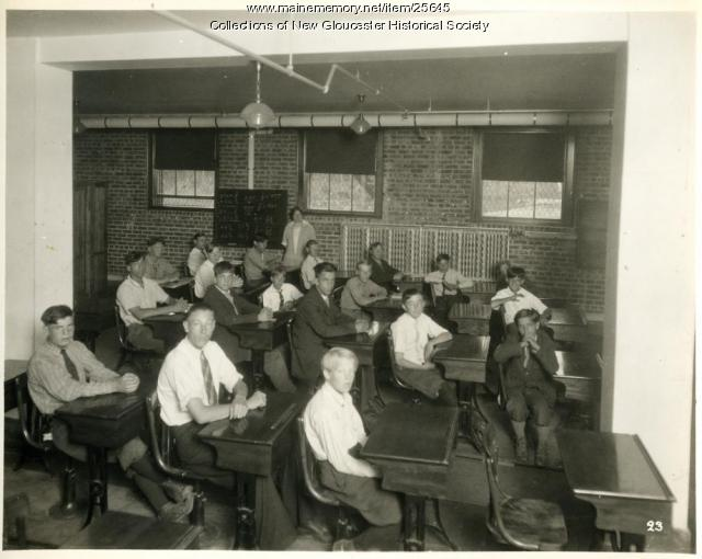 Students in classroom, Pownal State School, ca. 1937