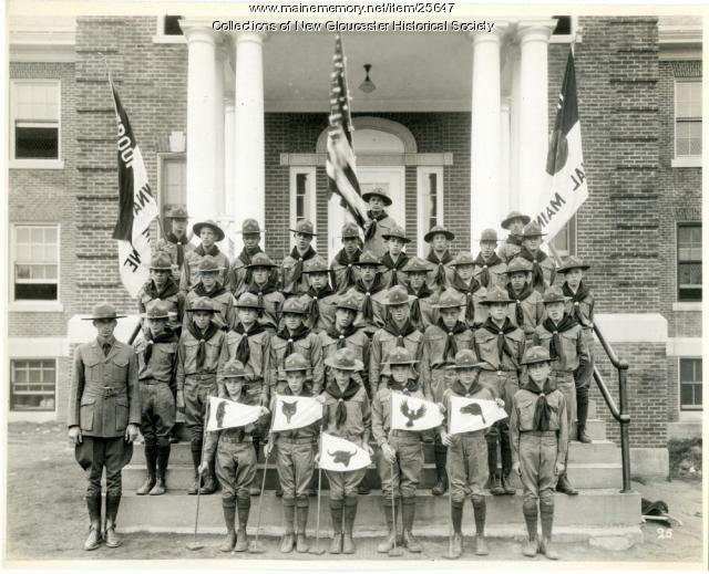 Boy Scout Troop, Pownal State School, ca. 1937