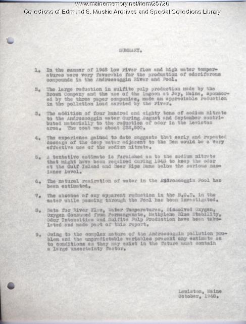 Summary of river condition, Lewiston, 1948