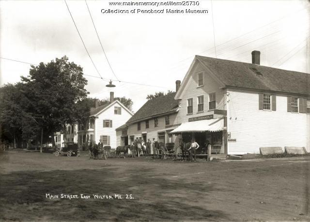 Main Street, East Wilton, ca. 1915