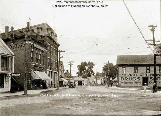 Main Street, Mechanic Falls, ca. 1925