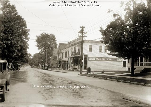 Main Street, Norway, ca. 1925