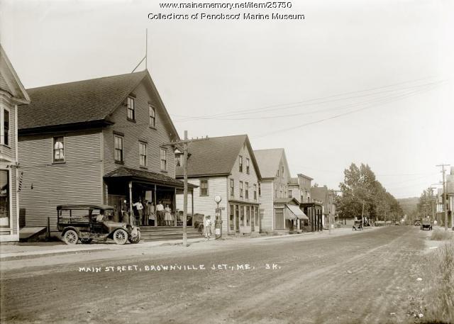 Main Street, Brownville Junction, ca. 1925