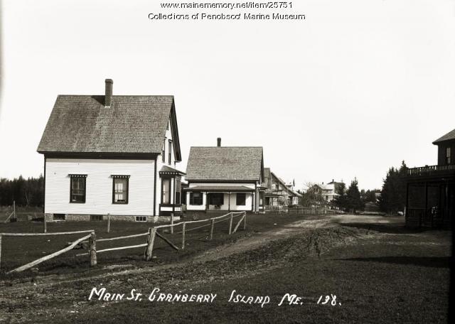 Main Street, Cranberry Island, ca. 1910