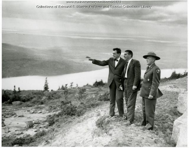 Muskie, Udall at Cadillac Mountain, 1962