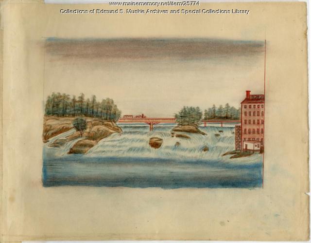 Sketch of Androscoggin River, ca. 1830