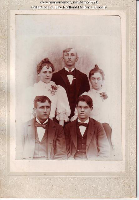 Graduating class, North New Portland High School, 1897