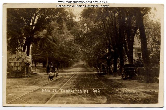 Thomaston's Main Street, ca. 1920