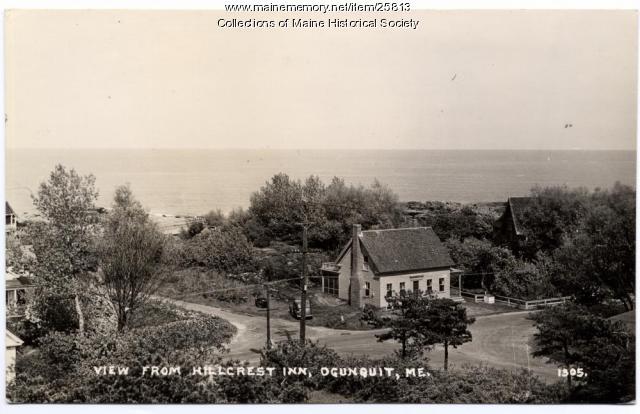 View from Hillcrest Inn, Ogunquit, ca. 1940