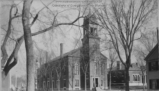 Saco City Hall and Dyer Library, ca.1896