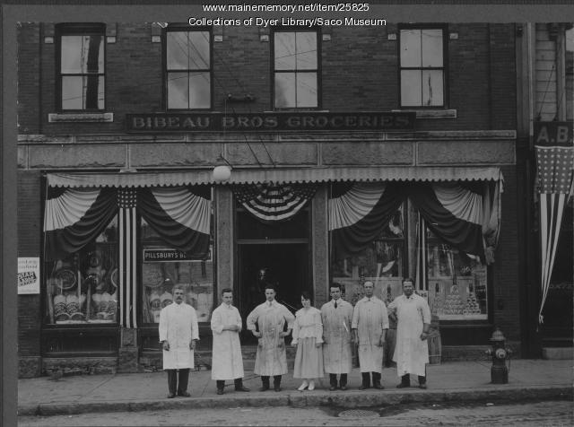 Bibeau Bros. Groceries, Biddeford, ca. 1920