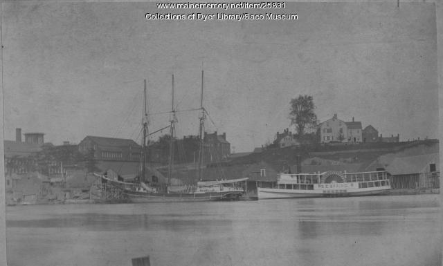 Boats Near Factory Island, Saco, ca. 1870