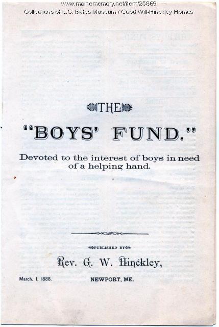 Boys' Fund, Newport, 1888