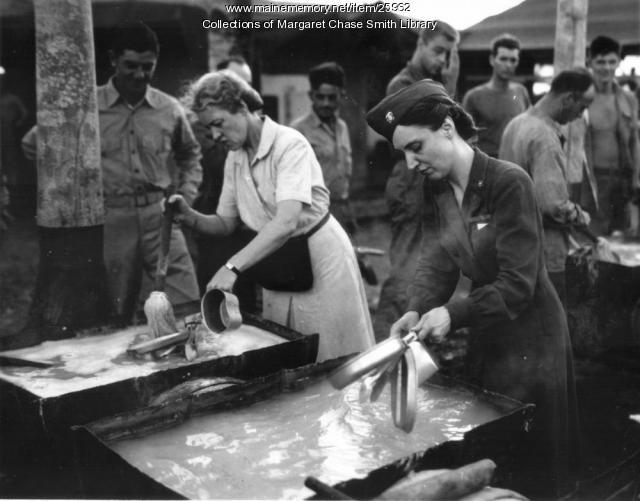 Margaret Chase Smith on Tutwilla Island, 1944