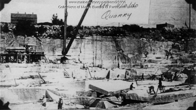 Quarry Workers At Mount Waldo, ca. 1860