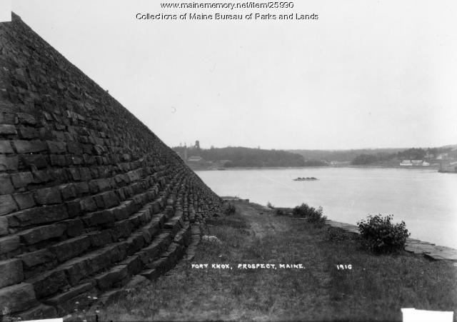 Front Enrockment at Fort Knox, 1898
