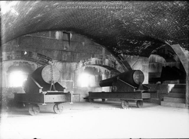 Cannons at Fort Knox, ca. 1920