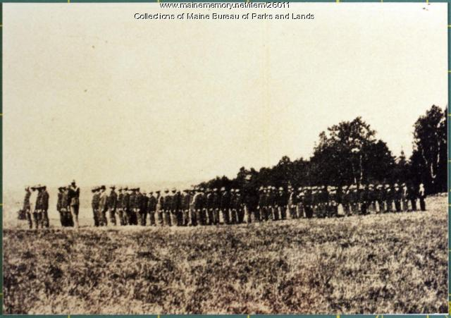 First Connecticut Infantry on Parade at Fort Knox, 1898