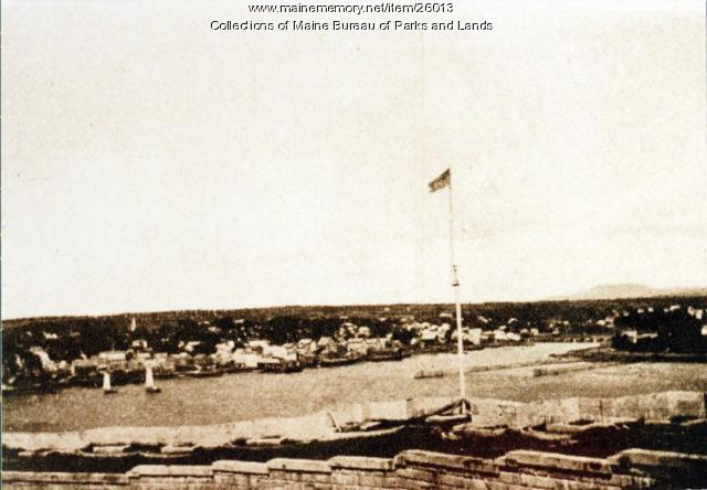 View of Bucksport from Fort Knox, 1898