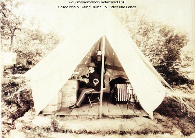 First Connecticut Sergeant Major in Tent at Fort Knox, 1898