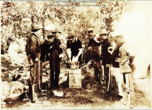 First Connecticut Infantry Troops at Fort Knox, 1898